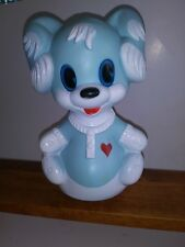 Roly Poly Baby Toy Blue Puppy Dog Lardy Made In France vtg