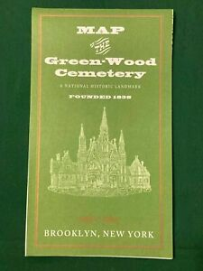 Map of the Green-Wood Cemetery Brooklyn, NY  OOP