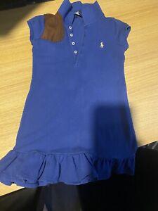 Navy Blue Ralph Lauren Girls Polo Dress Age 4