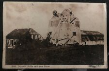 1915 Marine Feldpost Germany RPPC Postcard Cover düppeler mill After The Storm