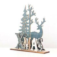 Elk Xmas Tree Wooden Ornaments Christmas Party DIY Crafts Home Garden Decoration