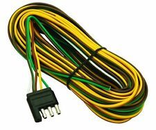 25 Foot Wesbar Wishbone Style Trailer Wiring Harness with 4 Flat Connector Cable