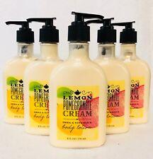 5 Bath & Body Works LEMON POMEGRANATE CREAM Body Lotion Cream Moisturizer 8 oz