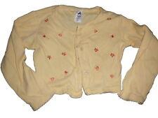C & A tolle leichte Kurz Jacke / Bolero Gr. 116 gelb mit Blumen Stickereien !