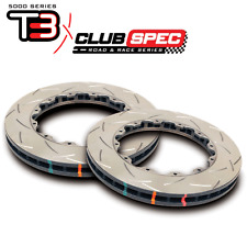 DBA T3 5000 Series Slotted 2pc Rotors (REAR Pair) for Nissan 09-11 GTR 52323.1S