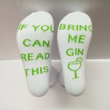 1pair Unisex Casual Funny Socks If You Can Read This Bring Me GIN Cotton Socks