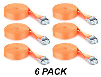 6 Pack Easy-to-Use Cambuckle Tie Down Straps 25mm x 2 metres
