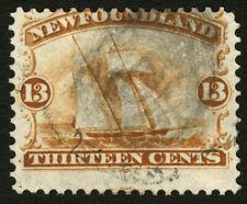 Newfoundland #30 13c Orange 1868-94  Used