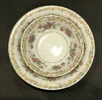 Noritake Somerset China Set of 2 Coupe Cereal Bowls and 1 Berry Bowl Floral 5317