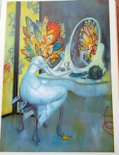 James Jean VANITY Children's Art Woman in Front of a Mirror 15 1/2  12 Unsigned