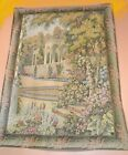 """TAPESTRY - WALL HANGING, Vintage Outdoor Arch Garden Scene, 62"""" x 45"""""""