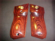 Smith & Wesson Model 39 52 439 539 639 Smooth Rosewood Pistol Grips w/Meds NEW!