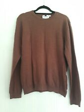 Topman - Brown/ginger Cotton Fine Knit Jumper Size L