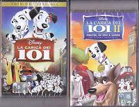 2 Dvd Disney LA CARICA DEI 101 ~ 1+2 ~ MACCHIA UN EROE A LONDRA nuovo 1978 2003