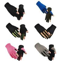 Fishing Glove Ice Silk Summer Riding Elastic Breathable Unisex Non-slip L3J6