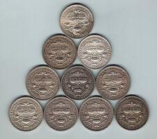 Australia. 1927 Canberra Florin x 10 Coins..  Ave Circulated