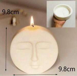MOULD - Large Luna moon face silicone mould Candle Making Clay Mold UK 2-3 Day