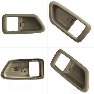 Fit 97-01 Toyota Camry Inside Bezel Front Rear Right Door Handle Beige Cover