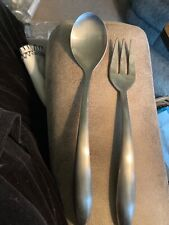 Pampered Chef Stainless Serving Spoon and Fork Set used