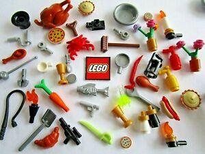 Lego Accessories for Minifigures NEW Food, Ice Cream Pizza Coffee Mugs Turkey