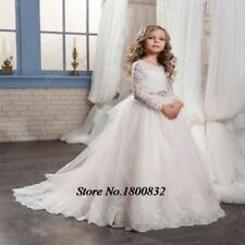 Flower Girl Dress Girl Party Prom Princess Pageant Bridesmaid Wedding +
