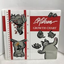 "B.Kliban Wall Sticker Cat Growth Chart 11 x 48"" Milestone Stickers New Sealed"