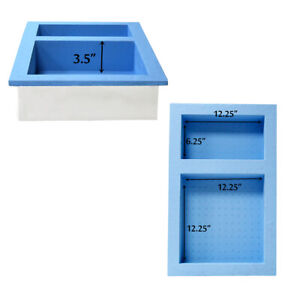 Preformed Double Recessed Shower Niche Ready to Tile & Waterproof Tile Styrofoam