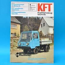 DDR KfT Kraftfahrzeugtechnik 4/1981  Multicar Karosa Peugeot Benelli Fantic B