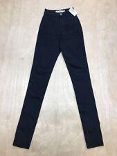 NEW American Apparel Black High Waist Easy Skinny Jeans Size XXS NWT A86