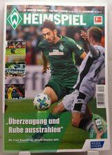 HEIMSPIEL Programm 25./29.10.2017 SV Werder Bremen vs. Hoffenheim und Augsburg +