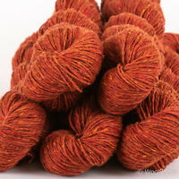 DK knitting yarn Kilcarra 100/% 500g Pure Wool *IRISH DONEGAL TWEED* Rust Aran