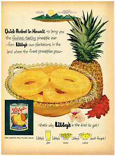 Vintage 1953 Magazine Ad Libby's Sliced Pineapple From Hawaii / Atlas Tires