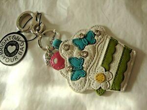 Brighton Sweet Cakes Handbag Cupcake Fob Key Chain NWT $50 Let's Hang Out