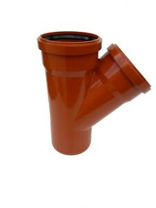 Underground Drainage 110mm Double Socket 45° Junction Y Branch