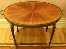 MAGNIFICENT 19C FRENCH BRONZE INLAID COFFEE TABLE , SIDE TABLE