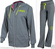 ZUMBA FITNESS ~2 Pc.Set ~TRACK PANTS & JACKET HOODIE U.K HARRODS~SOLD OUT & HOT!