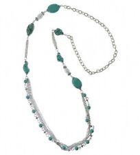 Halskette Howlithelemente 100 cm türkis