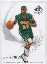 Lebron James SP AUTHENTIC IRISH High School Basketball Card St. Vincent St. Mary