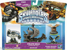 Skylanders Spyro's Adventure Pack PIRATE SEAS Terrafin Ship Ghost Swords - BNIP