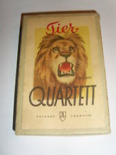 DDR Kult Quartett Kartenspiel Quartettspiel Tierquartett