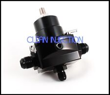 New BLACK high pressure fuel regulator w/ boost -8AN 8/8/6 Pressure Regulator