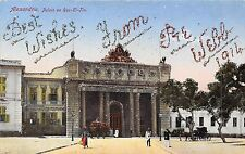 POSTCARD   EGYPT  ALEXANDRIE  1914  Best  Wishes  from  Pvt  Webb