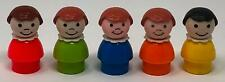 Vintage Fisher Price Little People Five Girls with Different Color Dresses