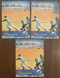1964 Mets Program and Scorecard (World's Fair Edition) Lot (3), W/ TICKET STUB