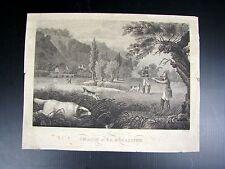 Gravure taille douce XIX° signée Charles Geoffroy,  D - 31,5 x 24,7 cm