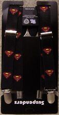 "Suspenders Children & Junior 1""x36"" FULLY Elastic Superman NEW Made in USA"