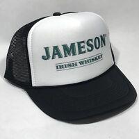 Jameson Irish Whiskey Trucker Hat Mesh Vintage 80s Snapback Cap Black