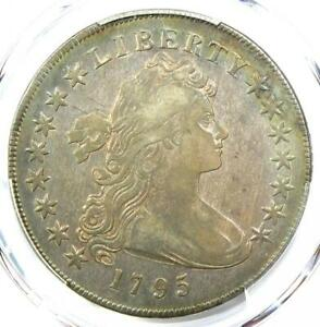1795 Draped Bust Small Eagle Silver Dollar $1 - PCGS VF Detail - Rare Coin!