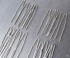 Lot of 20 pieces U hair pin DIY parts in silver color