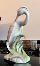 More details for beautiful vintage hh japan japanese porcelain crane art figure sculpture
